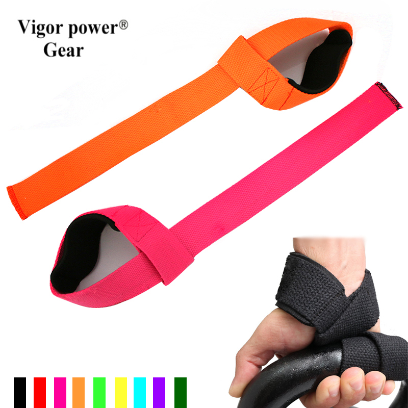2pcs Weight Lifting Straps over 2.3mm thick Strong Cotton Gym Padded Hand Bar Grip With Wrist Support Weight lifting gloves подъемник foshan city hui strong lifting wkto 4