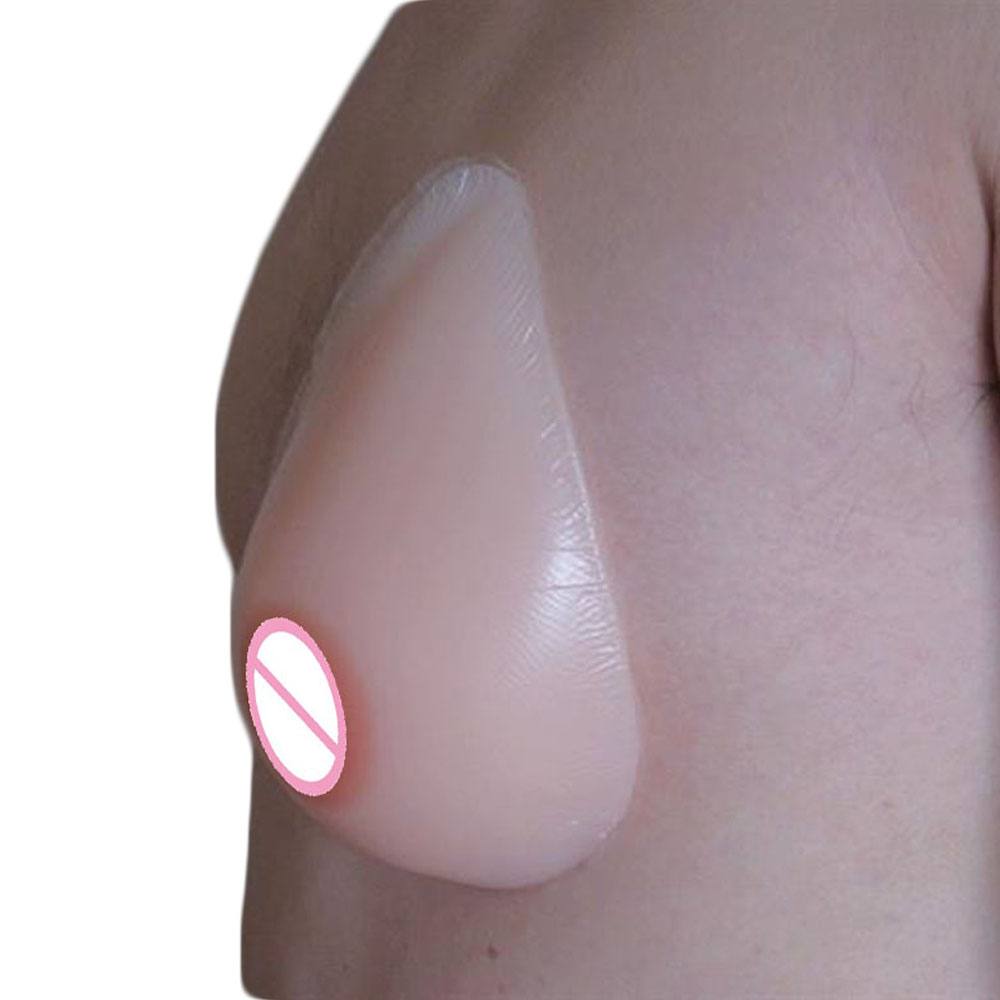 transgender self adhesive to crossdresser of silicone breast teardrop fake boobs 300g/pair small size 32aa