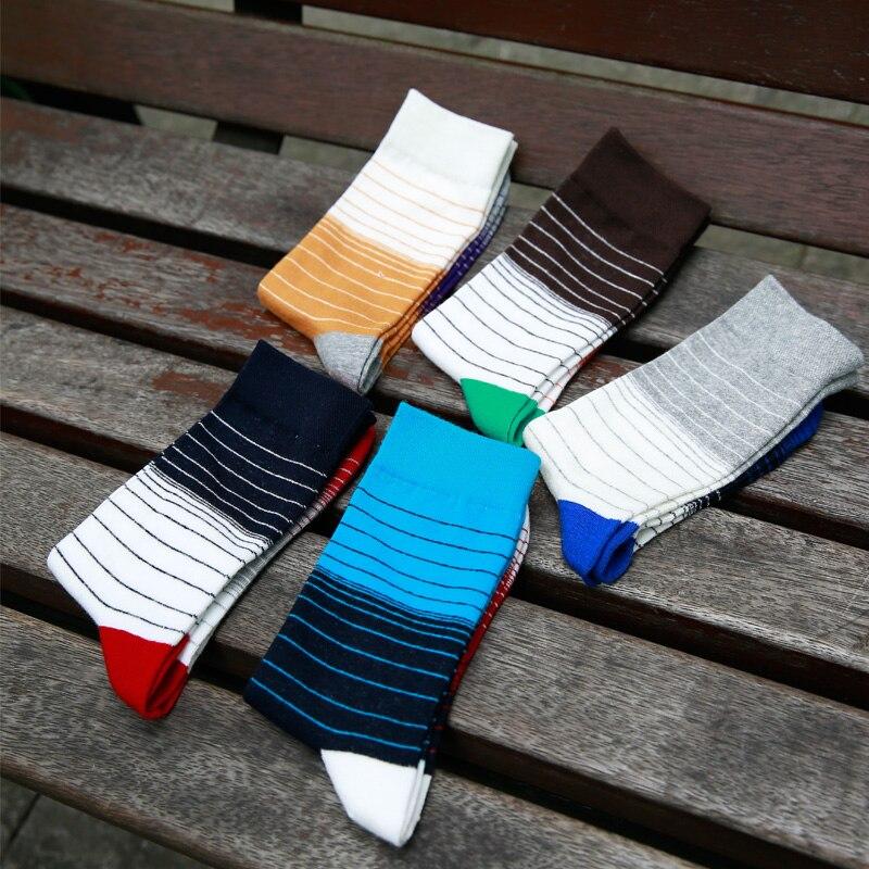 Men in tube   socks   fashion pinstripe spell color man   socks   man cotton   socks   EUR39-44
