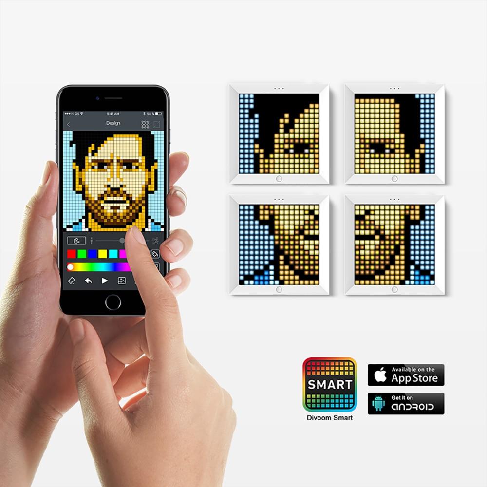 Divoom Pixoo ピクセルアート bluetooth ワイヤレス LED デジタルパネル時計アラームスーツ android と IOS システムアプリによって制御 DIY  グループ上の 家電製品 からの デジタルフォトフレーム の中 3