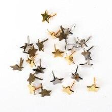 14 мм 50 шт Смешанные звезды металлические шипы Брэда шипы скрапбукинг украшения застежка Brads ремесла Пушап украшения