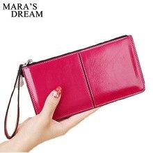 Mara's Dream женский сплошной цвет длинный кошелек на молнии пряжка кошелек Корейская версия большой емкости клатч