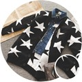2016 Nuevos niños de invierno abrigos Calientes chicos y chicas otoño estrella de cinco puntas de algodón de manga larga abrigos