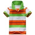 6 Colors Children T-Shirt Baby Boys Multi Color Short Sleeve Striped Cotton Tops Blouse