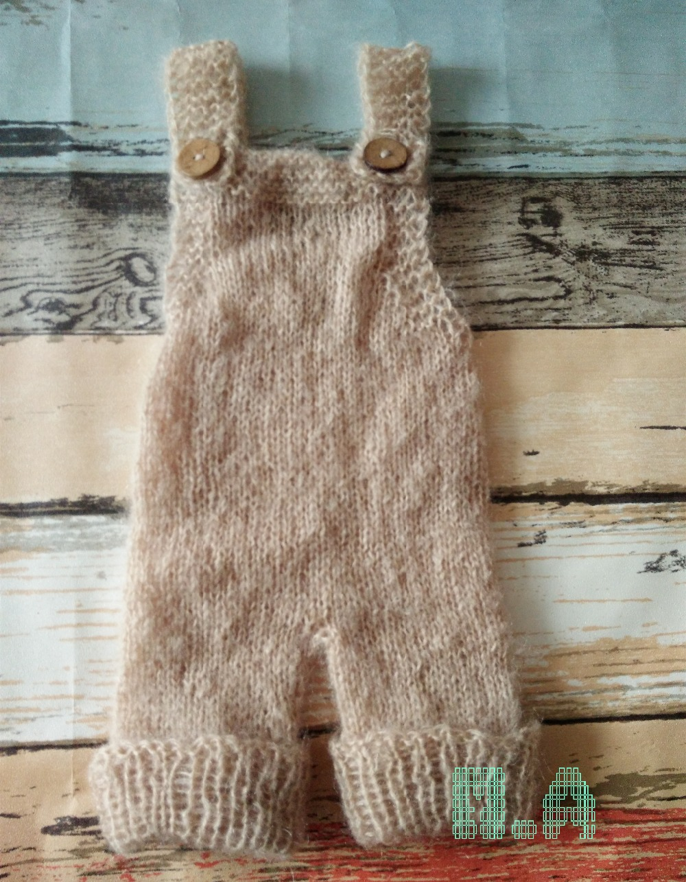Newborn Mohair Romper Baby Pant Photo Props ,Hand Knitting Mohair Jumpsuits Baby Boy Clothes auro mesa blue baby knitting romper 100