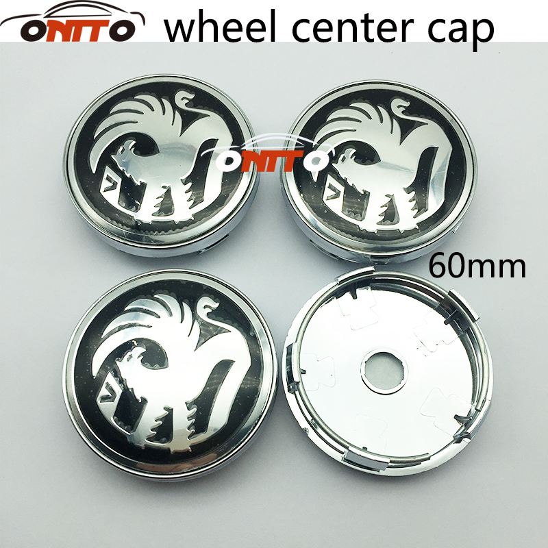 Since Opel Wheel Center Caps Alloy Logo Emblem Center Hub Cap Set 60mm Black