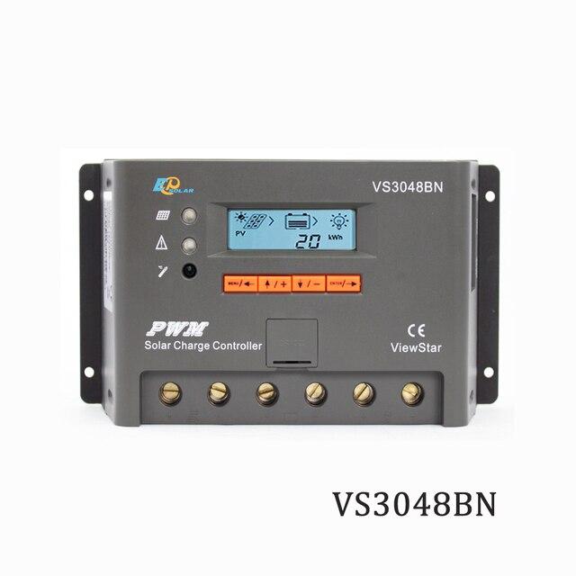 Contrôleur de Charge solaire VS3048BN 30A 12V 24V 36V 48V PWM | Régulateur de chargeur Viewstar Programmable, supporte MT50 WIFI Bluetooth