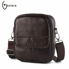 ZZNICK Genuine Leather Men Shoulder Bags New Fashion Hot Male Handbag Small Crossbody Messenger Bag Travel Bolsa Men's Satchels
