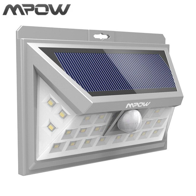 Mpow Waterproof 24 LED Solar Powered Lighting PIR Motion Sensor Outdoor LED Garden Lampion Security Night Pathway Wall Lights