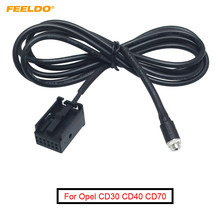 FEELDO coche Radio CD MP3 de Audio hembra Jack AUX-IN Cable adaptador para Opel CD30 CD40 DVD 90 NAVI 12- cable de Cable auxiliar de Puerto Pin #5804(China)