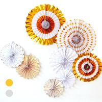 1 Set Decorative Crafts 40CM Flower Origami Paper Fan Wedding Decoration Home Decorations Birthday Party Decorations