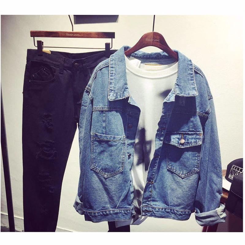 Women Jean Jacket Hot Sale Casual Popular Autumn Regular Coat Korea Girls Loose Outwear Simple Fashion Women\'s Clothing Cheap (2)