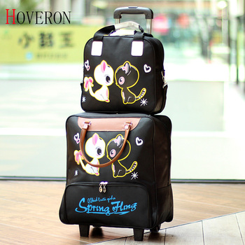 Fashion Women Trolley Luggage Rolling Suitcase Travel Hand Tie Rod Suit Casual Rolling Case Travel Bag Wheels Luggage Suitcase 2017 shipping by ems pu trolley luggage trolley travel suitcase with trolleys luggage case rolling 22inch maletas mala de viagem