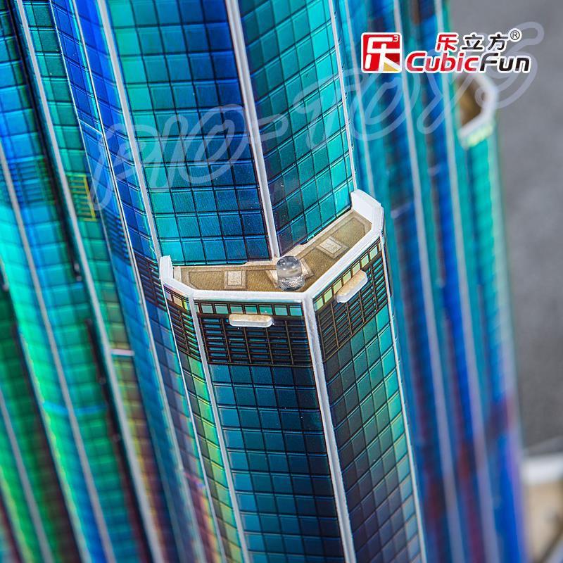 Nyttårsgave Burj Khalifa 3D-puslespillmodellbygging LED-tårn DIY - Puslespill - Bilde 4