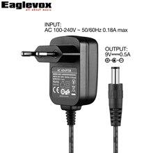 Amumu 9V500mA Power Adapter Negative Center CE GS RoHS Marking EU Plug F Type 100-240V Converter Power Supply