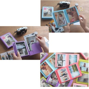 Image 5 - 32 taschen Bunte 3X5 Mini Einzigen Fotoalbum Bild Fall Lagerung für 5 Zoll Foto/Instax BREITE Film
