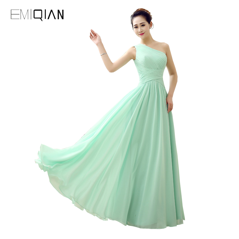 Original Design Pageant Dresses Simple A Line One Shoulder Chiffon Evening Dress