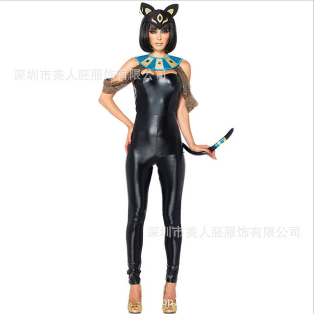 2018 new high quality Sexy black Catwoman Costume Halloween Pvc Catsuit Game Uniforms Clubwear Bodysuit Glue  sc 1 st  AliExpress.com & 2018 new high quality Sexy black Catwoman Costume Halloween Pvc ...
