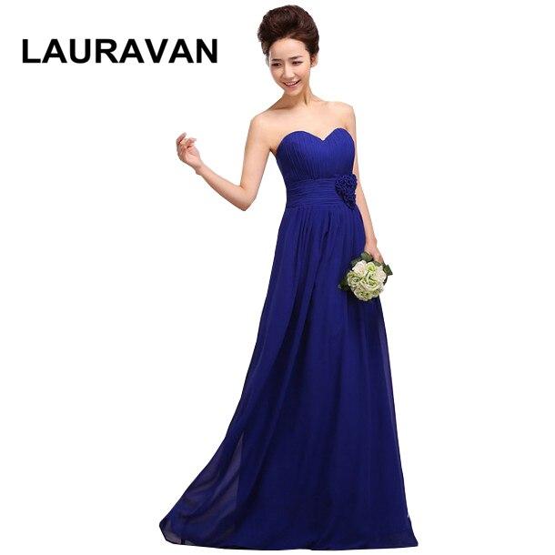 Vestido Longo Rosa Women's A Line Plus Size Sweet 16 Sexy Floor Length Long Royal Blue Bridesmaid Dresses Gowns For Guest