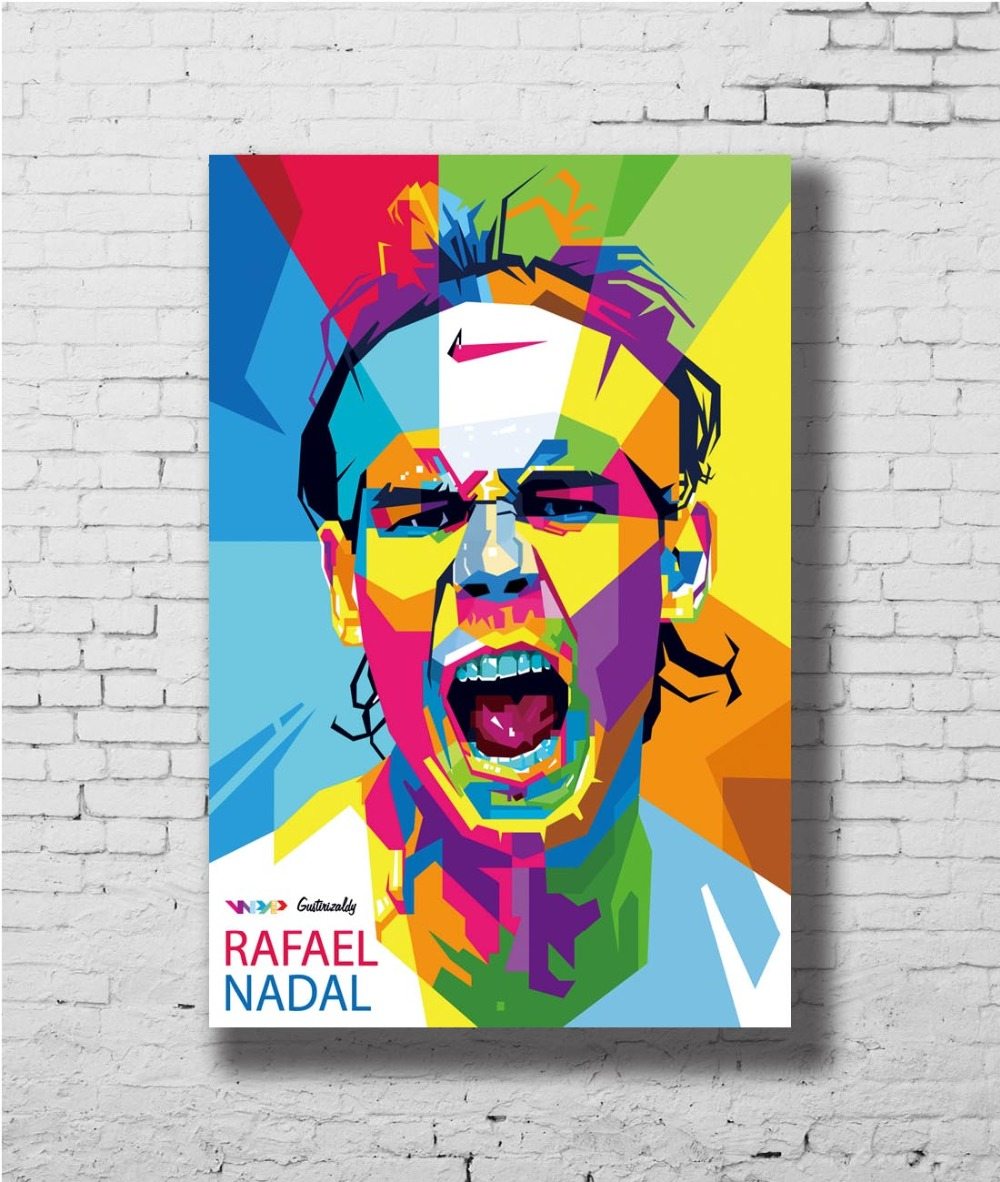 Rafael Nadal Top Tennis Player Sports Wall Sticker Home Decoration Silk Art Poster Painting Calligraphy Aliexpress