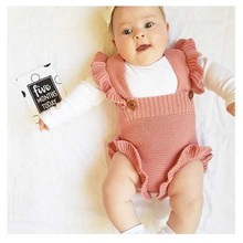 Newborn Baby Girl Knitted Clothes Baby Boys Rompers Brand Jumpsuit 2019 Autumn Baby Girls Rompers Cotton Infant Baby Girl Romper cheap campure Polyester Animal O-Neck Pullover Short Fits true to size take your normal size as photo baby clothes baby girl clothes