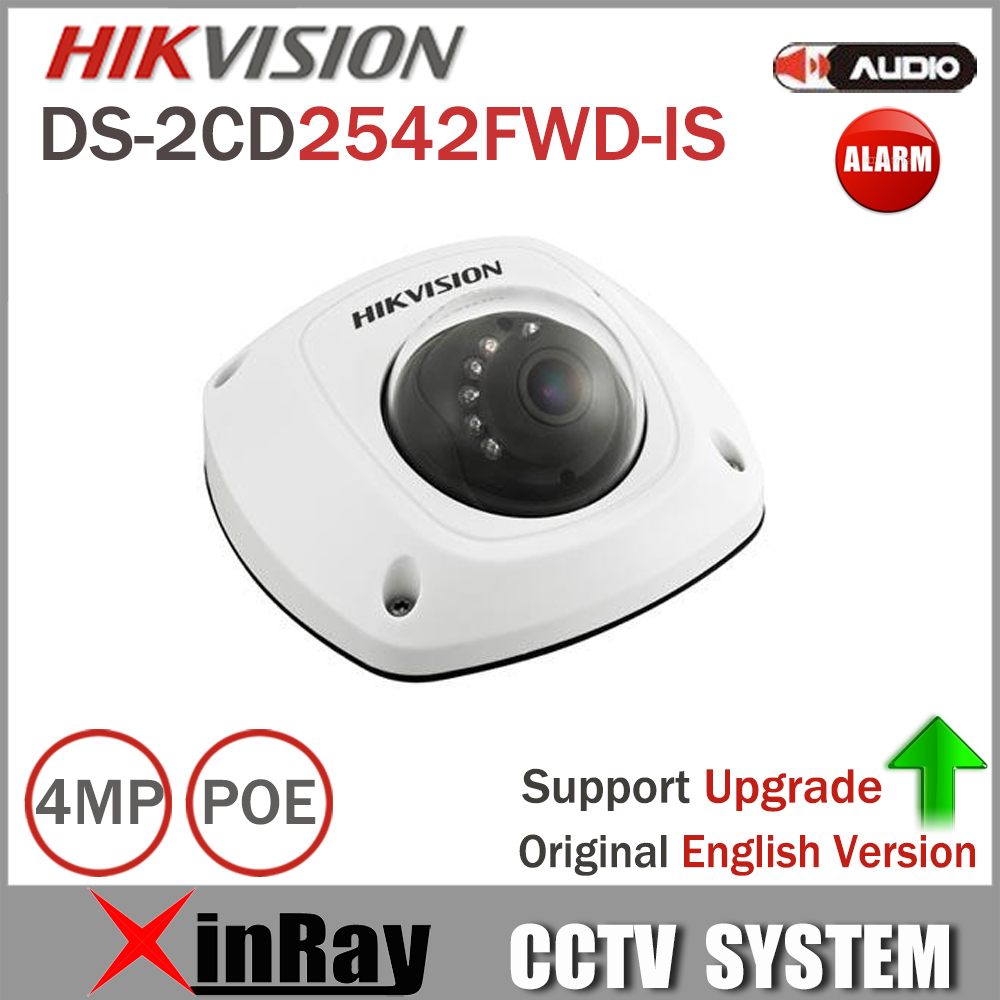 Hikvision Network PoE Camera DS-2CD2542FWD-IS support 3D DNR Built-in Micro Mini Dome Camera with IP67 IK08 Protection hikvision new released 8mp h 265 network dome camera ds 2cd2185fwd i 3d dnr bullet camera 3840 2160 resolution ik 10 ip 67