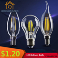 Led Edison Bulb C35 C35L A60 G80 Light Bulb 2W 4W 6W Led Bulb E27 Clear Glass Indoor Lighting Lamp AC220V 230V Led Filament Bulb