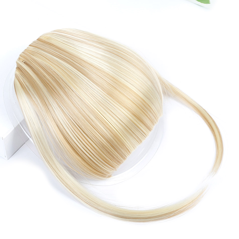 DIFEI Bangs Clip Hairpiece Black Brown Blonde Synthetic Bangs Hair Extensions Face Bangs Hair For Women