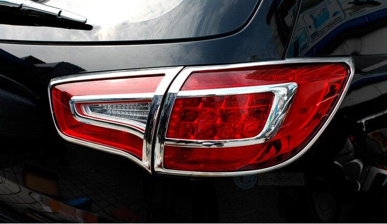 ABS Chrome Rear Tail Light Lamp Cover Trim for Kia Sportage R 2010 2011 2012 2013 внешние аксессуары myhung kia sportage 2010 2011 r abs 4