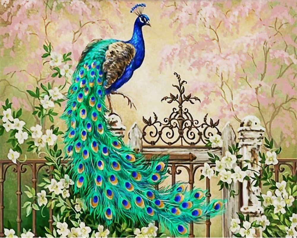 Beibehang Custom Large Wallpaper Peacock European Oil Painting Modern Home Decoration Wallpaper For Walls 3 D Papel De Parede