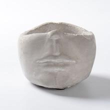 Succulent Plant Flower Pot Silicone Mold Face Sculpture Shaped DIY Gypsum Cement Fleshy Mould
