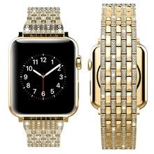 Ремешок из нержавеющей стали с бабочкой для Apple Watch 38 мм 42 мм браслет из розового золота для Iwatch серии 1 2 3
