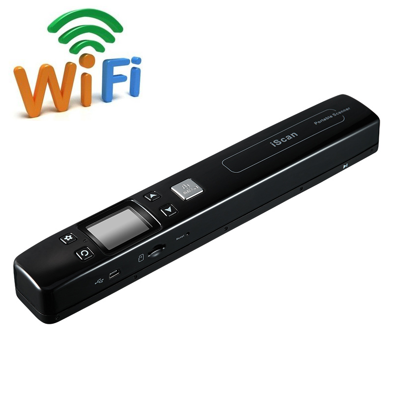 Wireless Wifi Portable scanner Handheld A4 Document camera Color 1050 DPI Scanner Support JPG and PDF formate Free shipping l1000 portable hd 10mp 3672x2856 usb camera photo image document book a3 a4 scanner visual presenter high speed ocr scanner a3