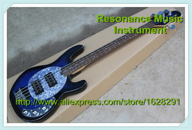 Custom Shop Vintage Blue 4 Strings Suneye Music Man Classical Sabre Electric Bass Guitar China Left Handed Available