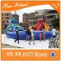 Коммерческая Надувные водные горки с бассейном для аренды, большие надувные слайд