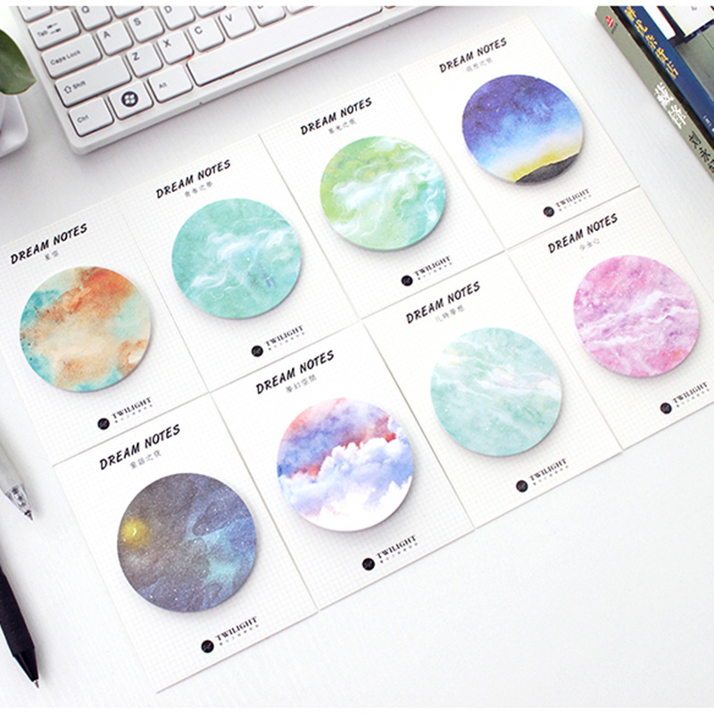 8 Pcs/Lot Dream Notes Fantasy Star Memo Pad Planner Sticker Diary Book Marker Stationery Office Material School Supplies F665
