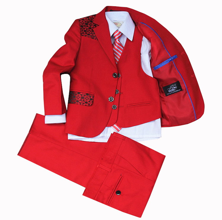 2016 Real Rushed Boys Suits For Weddings Boys Blazer Jacket Wedding Flower Children Tide Host Suit Dress Boy Piano Performance handsome fashion boys suits embroidery children s business suit stand collar performance clothing flower boys gown