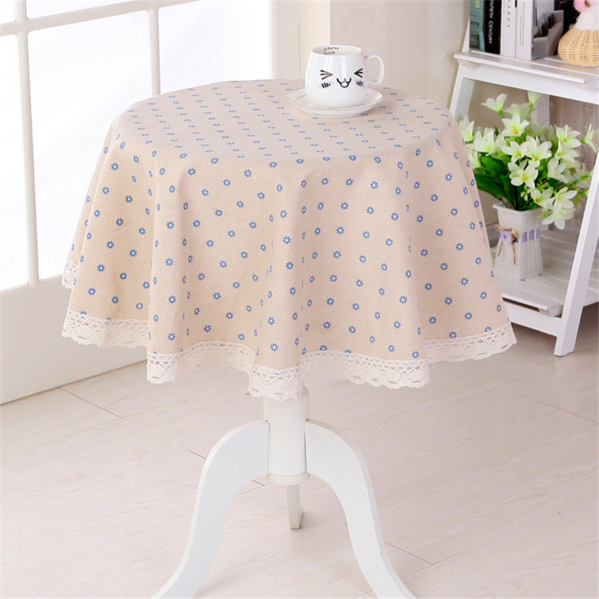 Little Flower Printed Round Table Cloth Coffee Shop Table Decoration Cover  4 Colors CKATEPTB(China