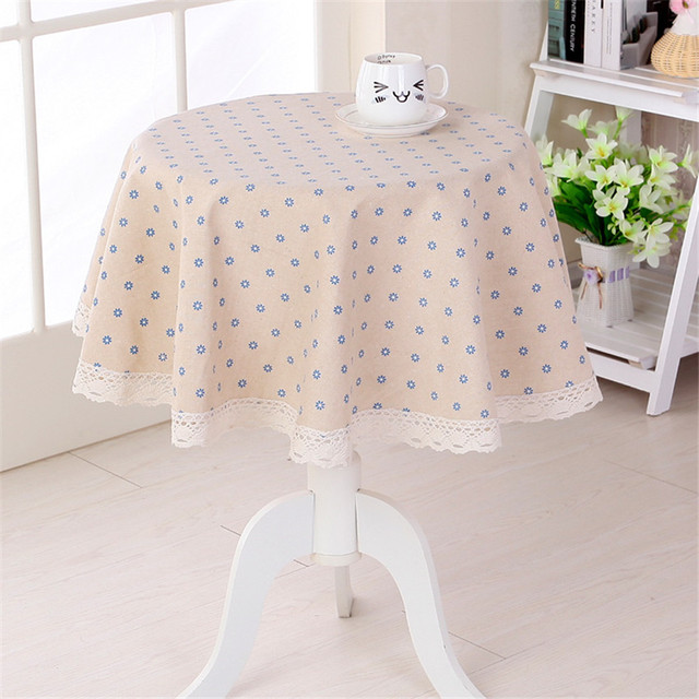 little flower printed round table cloth coffee shop table decoration cover 4 colors CKATEPTB