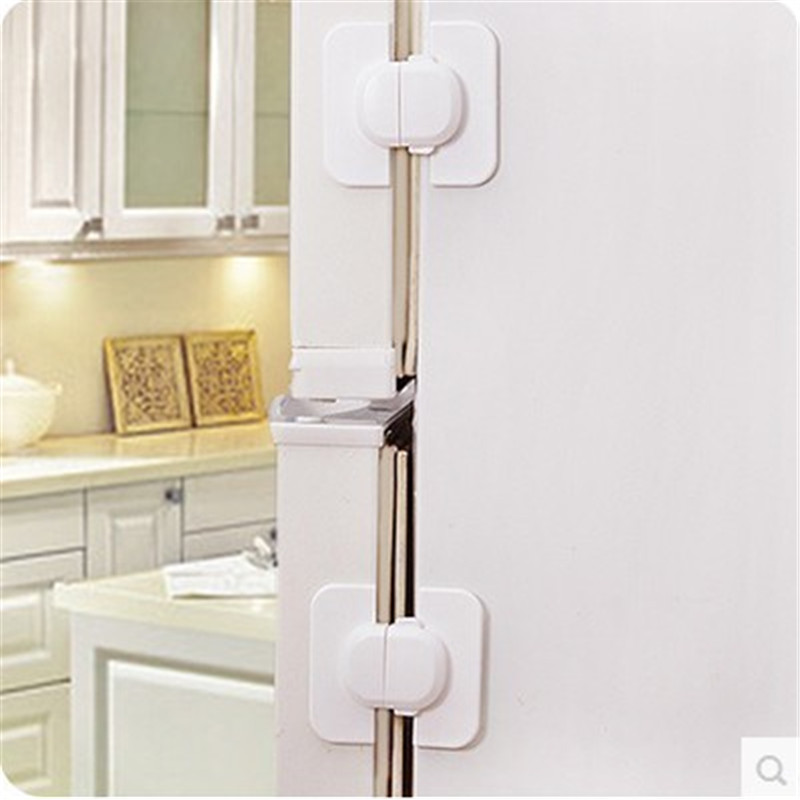 1 piece Kids Baby Care Safety Security Cabinet Locks & Straps Products For Fridge Door Free Shipping ma