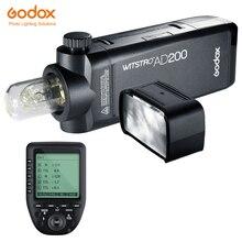 جهاز إرسال من Godox طراز AD200 200Ws TTL GN60 عالي السرعة لمزامنة الجيب فلاش + Godox Xpro C/N/F لكاميرا كانون ونيكون فوجي فيلم بنتاكس