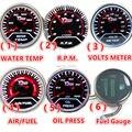 """1 Pcs 12 V 2 """"(52mm) LED Smoke Lens ÁGUA TEMP/RPM/VOLT VOLTER AR/COMBUSTÍVEL/ÓLEO de IMPRENSA/Medidor De Combustível Do Carro Auto Gauge/Tacômetro Medidor de Carro"""