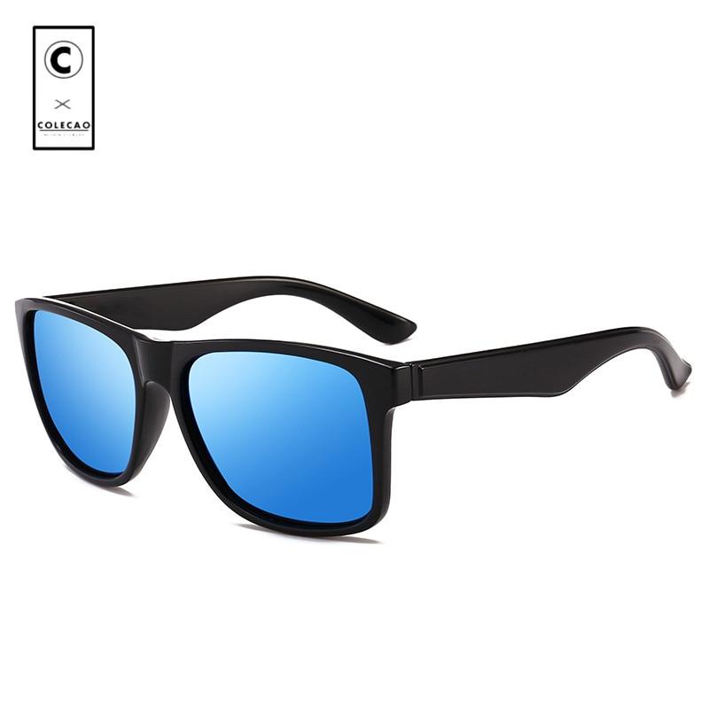 c06980e4af9c1 COLECAO Polarized Sunglasses Men 2018 UV400 Rectangle Sun Glasses Outdoor  High Quality Men s Retro Vintage Sunglasses 525