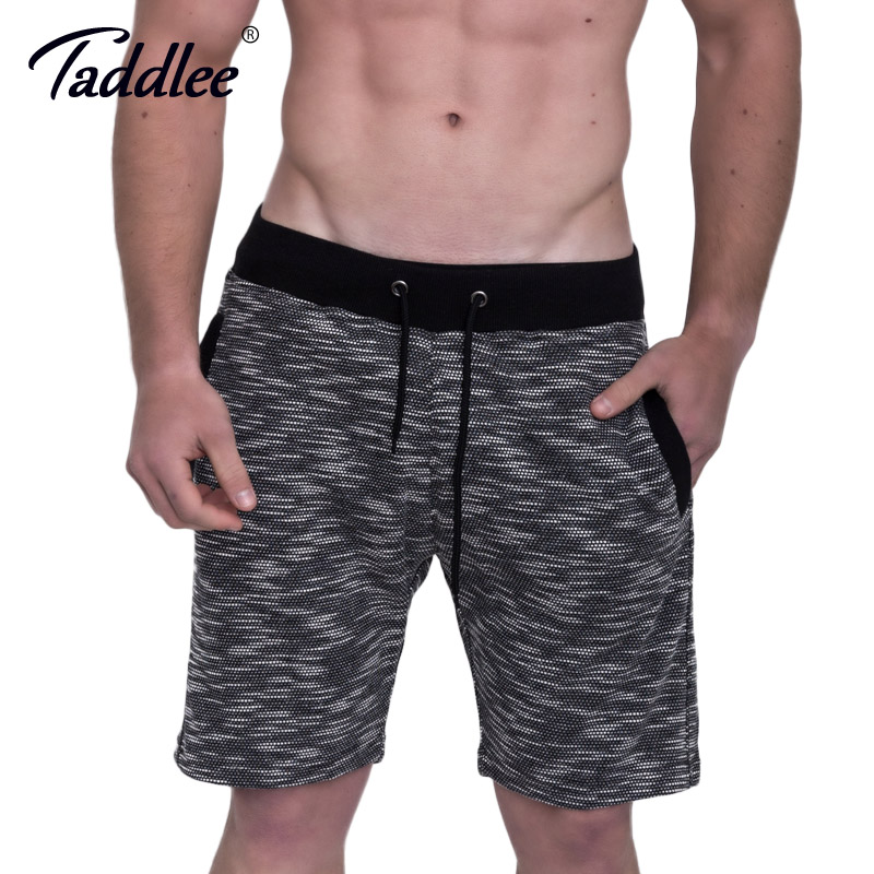 Taddlee Brand Cotton Mens Shorts Fitness Workout Gasp Boxer Trunks Short Bottom Casual Sweatpants Cargo Soft Calf-Length Jogger