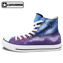 Sneakers Women Men Converse Chuck Taylor Galaxy Original Design Custom Hand Painted Skateboarding Shoes Man Woman Christmas Gift