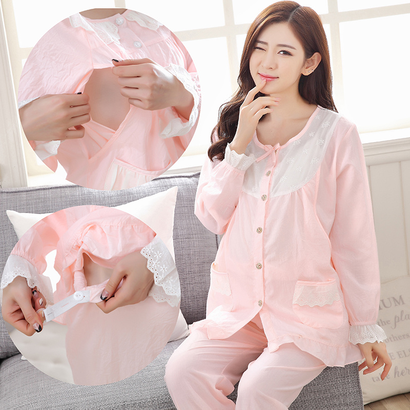 Cotton Pregnant Nursing Breastfeeding Clothes Pigiama Donna ...