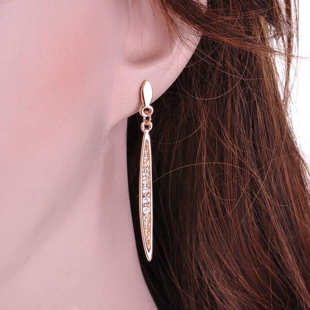 Yanqueens Simple Thin Strip Crystal Charms Dangle Earring Drop Earrings Ethnic Tribal Festival Jewelry women statement jewelry 3