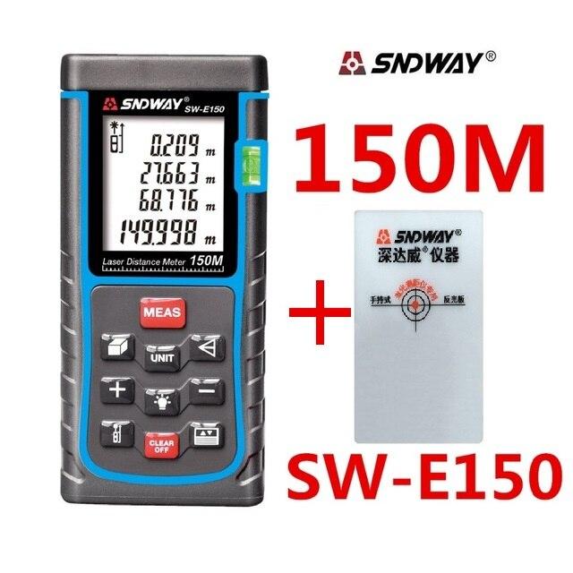 SNDWAY Laser mètre de distance 150 m 100 m 80 m 60 m 50 m Laser télémètre trena Laser gamme de bande finder construire mesure dispositif règle
