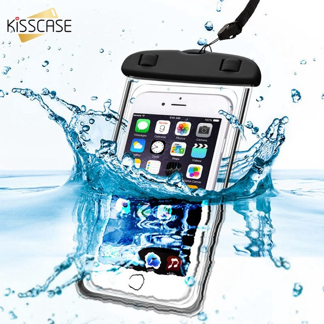 hot sales 528e2 80542 US $2.99 40% OFF|KISSCASE Waterproof Phone Bag Case For iPhone X 8 7 6S 6  Plus For Xiaomi For Samsung Galaxy S9 S8 Plus Cases Diving Swim Pouch -in  ...