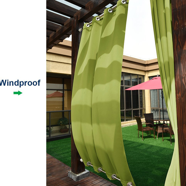Gentil Patio Curtain Outdoor Drape Panels   Nicetown Easy Care Top And Bottom  Grommets Blackout Mildew Resistant